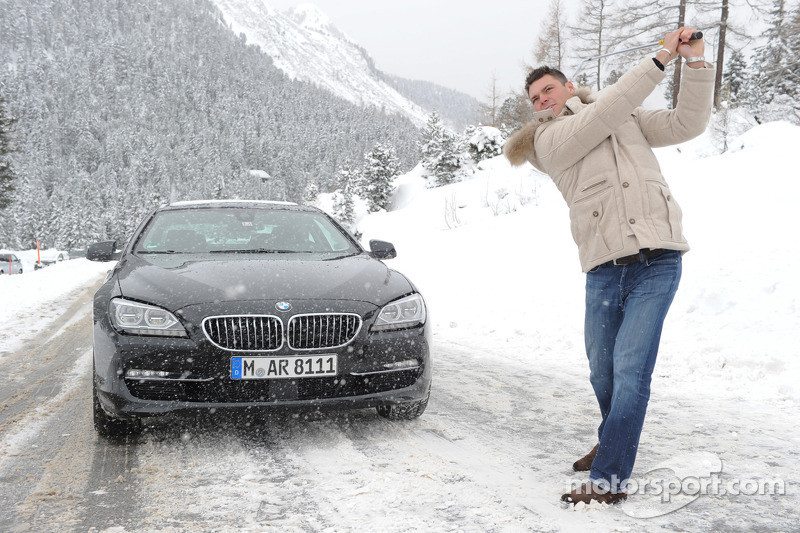 Ryder Cup champion Martin Kaymer and DTM champion Bruno Spengler compete in the BMW xDrive Mountain Challenge in Kühtai, Austria