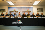 Michael Shank Racing press conference: Chris Cumming, Jorge Goncalves, Michael Valiante, Gustavo Yacaman, Michael Shank, A.J. Allmendinger, Marcos Ambrose, Oswaldo Negri, John Pew and Justin Wilson