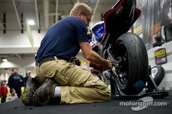 The Pit lane tire changing challenge, where contestants raced the clock for a chance to win a trip for two to the Daytona 200 and other cool swag