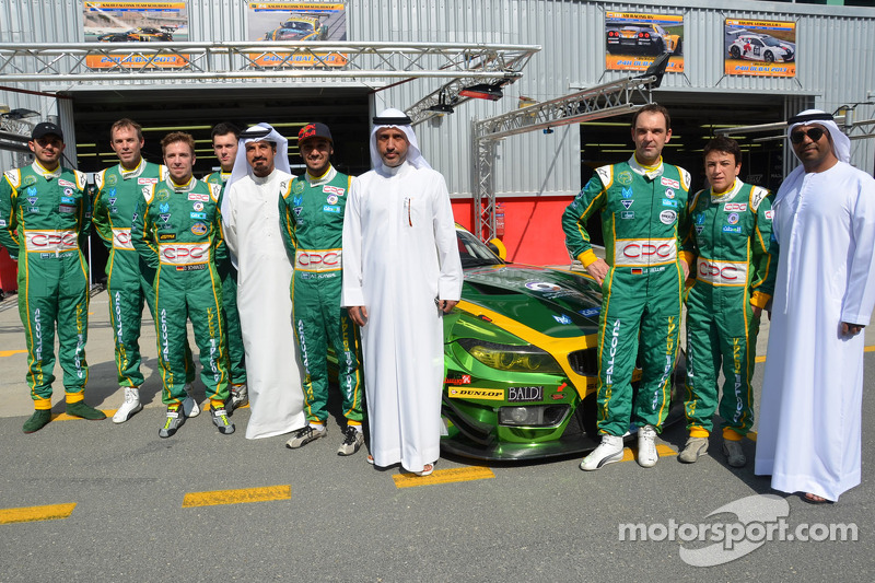 Mohammed Ben Sulayem and Ali Fardan Al Fardan, Dubai Autodrome chairman with the Saudi Falcons Team Schubert BMW squad