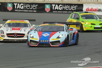 #9 Gulf Racing Middle East Lamborghini Gallardo LP600: Fabien Giroix, Frederic Fatien, Khaled Al Mudhaf, Stefan Johansson