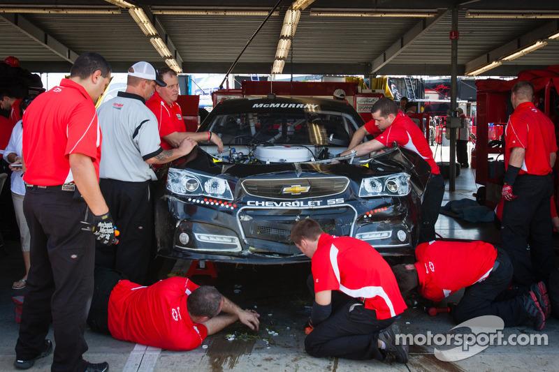 Wrecked car of Jamie McMurray, Earnhardt Ganassi Racing Chevrolet