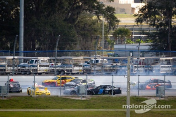 Crash on the backstretch