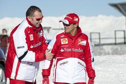 Felipe Massa, Scuderia Ferrari with Stefano Domenicali