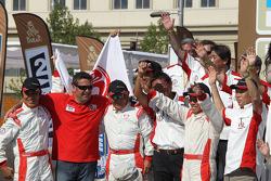 Team Hino celebrates