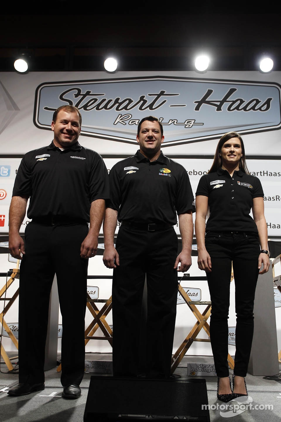 Ryan Newman, Tony Stewart, Danica Patrick, Stewart-Haas Racing Chevrolet