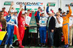 DP victory lane: class and overall winners Charlie Kimball, Juan Pablo Montoya, Scott Pruett, Memo Rojas celebrate