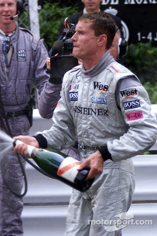 Podium: race winner David Coulthard