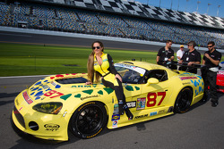 The lovely Vehicle Technologies Dodge Viper girl
