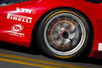 Red disk brake on the #87 Ferrari of San Diego Ferrari 458: Rich Baek