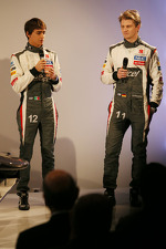 Esteban Gutierrez, Sauber with team mate Nico Hulkenberg, Sauber