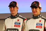 Nico Hulkenberg, Sauber with team mate Esteban Gutierrez, Sauber