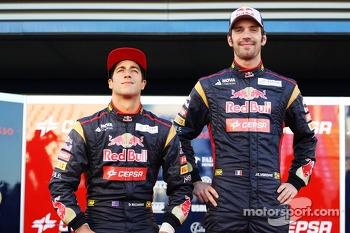 Daniel Ricciardo, Scuderia Toro Rosso with team mate Jean-Eric Vergne, Scuderia Toro Rosso