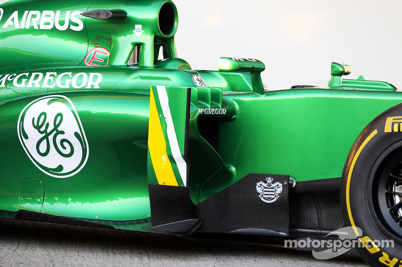 Caterham CT03 sidepod detail