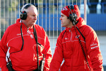 John Booth, Marussia F1 Team Team Principal with Marc Hynes, Marussia F1 Team Driver Coach