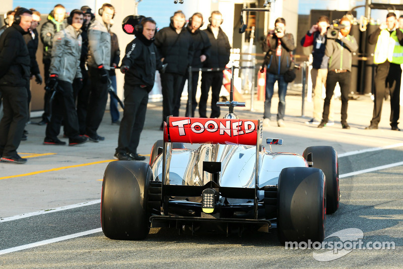Jenson Button, McLaren rear wing and rear diffuser detail