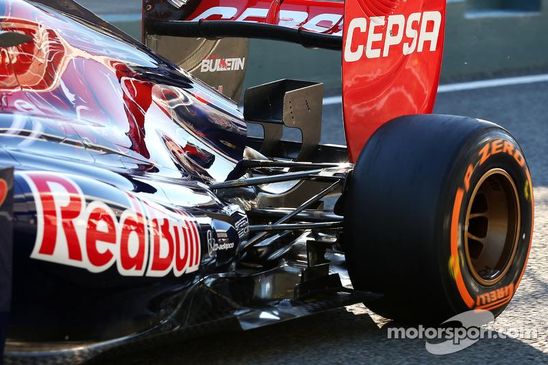Daniel Ricciardo, Scuderia Toro Rosso rear suspension detail