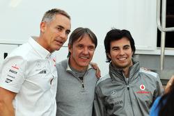 Martin Whitmarsh, McLaren Chief Executive Officer with Adrian Fernandez, and Sergio Perez, McLaren