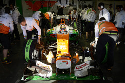 Jules Bianchi, Sahara Force India F1 Team VJM06 in the pits