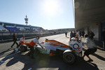 Jules Bianchi, Sahara Force India F1 Team VJM06 is pushed back in the pits