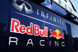 Red Bull Racing logo on a truck