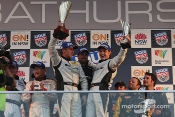 Podium: race winners Bernd Schneider, Thomas Jger, Alex Roloff