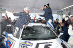 Winners Sbastien Ogier and Julien Ingrassia, Volkswagen Polo WRC, Volkswagen Motorsport celebrate