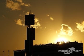 The sun sets over Daytona