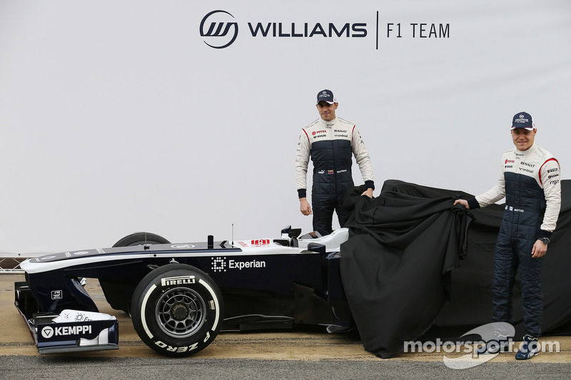 Pastor Maldonado, Williams F1 and Valtteri Bottas, Williams F1 unveil the FW35