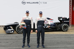 Pastor Maldonado, Williams F1 and Valtteri Bottas, Williams F1 unveil the FW35