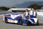 Alexander Wurz, Kazuki Nakajima, Nicolas Lapierre with the Toyota TS030 Hybrid
