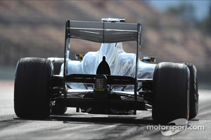 Esteban Gutierrez, Sauber C32 rear diffuser detail