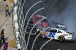 Last lap crash: Kyle Larson, Brad Keselowski, Brian Scott, Justin Allgaier crash heavily