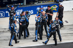 Hendrick Motorsports Chevrolet crew members celebrate victory