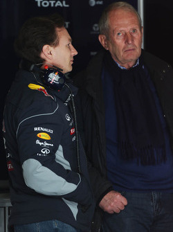 Christian Horner, Red Bull Racing Team Principal with Dr Helmut Marko, Red Bull Motorsport Consultant