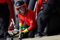 Marussia F1 Team mechanics practice pit stops
