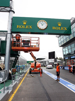 Rolex branding in the pits