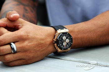 The watch of Lewis Hamilton, Mercedes AMG F1