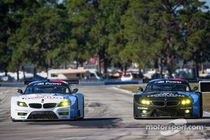 #56 BMW Team RLL BMW Z4 GTE: Dirk Müller, Joey Hand, John Edwards, #55 BMW Team RLL BMW Z4 GTE: Bill Auberlen, Maxime Martin, Jörg Müller