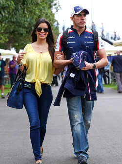 Pastor Maldonado, Williams with girlfriend Gabriella Tarkany