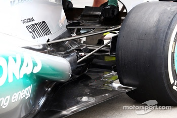 Mercedes AMG F1 W04 exhaust and rear suspension
