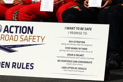 The drivers Golden Rules road safety pledge