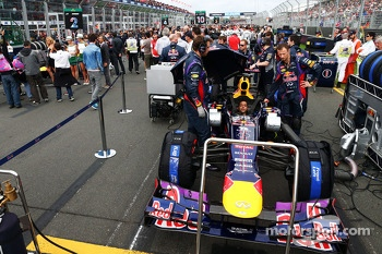 Red Bull Racing RB9 of Sebastian Vettel, Red Bull Racing on the grid