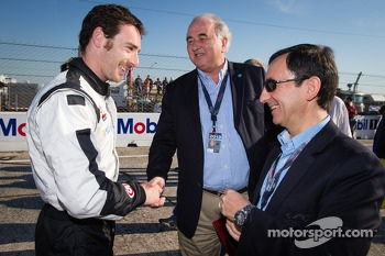 Simon Pagenaud with WEC consultant Frdric Henry-Biabaud and ACO President Pierre Fillon