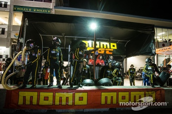 NGT Motorsport team members ready for a pit stop