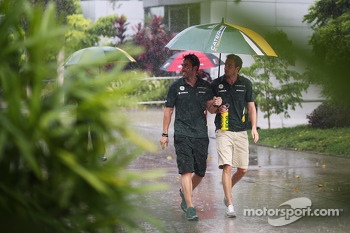 Giedo van der Garde, Caterham F1 Team during a storm