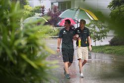 Giedo van der Garde, Caterham F1 Team during a storm