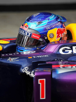 Sebastian Vettel, Red Bull Racing RB9 in parc ferme