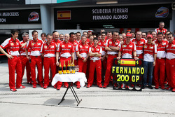 Fernando Alonso, Ferrari celebrates his 200th GP with the team