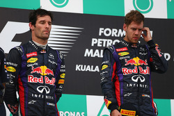 Podium: race winner Sebastian Vettel, Red Bull Racing, second place Mark Webber, Red Bull Racing, third place Lewis Hamilton, Mercedes AMG F3